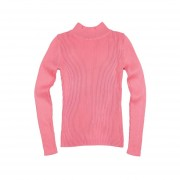 Autumn & Winter Half Turtleneck Slim Bottoming Long-sleeved Knitted Sweater Pink