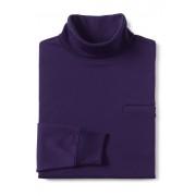 ランズエンド LANDS' END メンズ・スーピマ・インターロック/タートルネック/ポケット付き/長袖(コンコードクレープ)