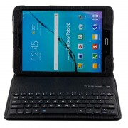 Capa com Cobertura e Teclado Bluetooth para Samsung Galaxy Tab S2 9.7 T810, Galaxy Tab S2 9.7 LTE T815 - Preto