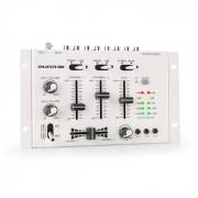 Auna Pro TMX-2211, MKII, DJ-Mixer, 3/2 csatorna, crossfader, talkover, rack-ba szerelés, fehér (DJMM2_TMX2211MKII_WH)