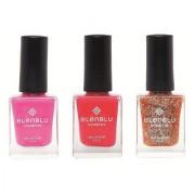 Pink Suave French Rose and Caramel Flicker 9.9ml Each Elenblu Pearls Nail Polish Set of 3 Nail Polish