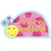 Creative Lil Lady Bug Diecut Postcard Invitations 8 Per Pack