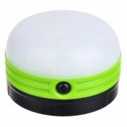luz de noche de la lampara LED de camping de pesca al aire libre - verde (3 x AA)
