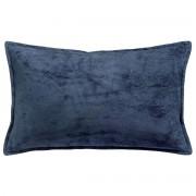 Miliboo Coussin en velours bleu 30 x 50 cm ALOU