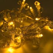 łańcuch świetlny LED decoLED - ciepła biel, przezroczyste kryształy, diody LED