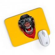 Mouse Pad A Aventura do Macaco Mau Amarelo 24x20