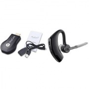 Anycast WiFi HDMI Dongle & Wireless Display for TVLaptopDesktopTablet Compatible with All Smartphone and Voyager Legend bluetooth headset