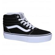 Vans Ward Hi Platform Zwarte Skateschoenen