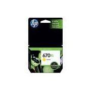Cartucho HP 670XL Amarelo (CZ120AB) Para HP Deskjet 4615, 4625, 5525