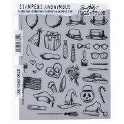 """Stampers Anonymous Tim Holtz Cling Rubber Stamp Set, 7"""" by 8.5"""", Crazy Things"""