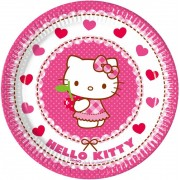 Hello Kitty papírtányér (8 db-os)
