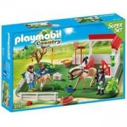 Строител ПЛЕЙМОБИЛ - Конюшня с кончета, 6147 Playmobil, 291259