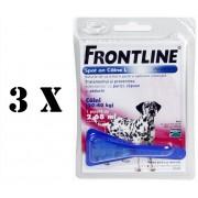 3 pipete Frontline Spot On caini 20-40 kg (L)