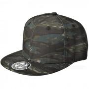 hip-hop del sombrero del casquillo de la lona de los hombres de moda - negro + camuflaje