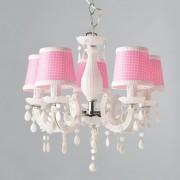 ACA DECOR Lustr Pink 5xE14