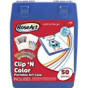 Rose Art Clip n' Color Case - 50 Piece (Colors May Vary)