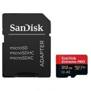 SanDisk MicroSDXC 512GB Extreme Pro A2 UHS-I (V30) U3 + SD adapter