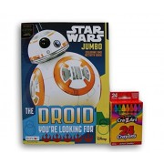 Star Wars ''The Droid You're Looking For'' Jumbo Coloring and Activity Book with Cra-Z-Art Crayons