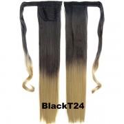 Culík - cop rovný s omotávkou 57 cm - Ombre styl (odstín Black T 24) - Světové Zboží