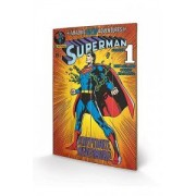 Tablou pe lemn DC Comics Superman Kryptonite