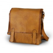 Leather bag to shoulder 8384 in light brown color