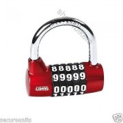 Motorcycle scooter custom cycle open face helmet resettable padlock disc lock
