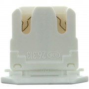 LH0619 Unshunted, T8 only straight insertion lamp holder/socket