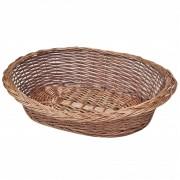 vidaXL Върбова кошница/легло за куче, естествен цвят, 70 см
