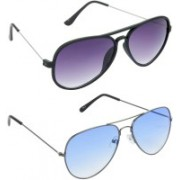 Hrinkar Aviator Sunglasses(Grey)