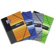 Caiet A4, spirala dubla, 80 file - 90g/mp, coperta PP, OXFORD Student Nomad Book - matematica