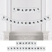 Big Dot Of Happiness We Still Do - 10Th Wedding Anniversary Party Bunting Banner Silver Decorations Happy