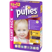 Scutece Pufies Baby Art giant pack, 5 junior, 64 buc