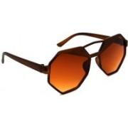 Hrinkar Round Sunglasses(Brown)