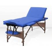 Masa masaj plianta -Lemn 3 Albastru
