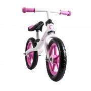 Bicicleta fara pedale Fin Plus White Pink