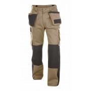 Dassy Seattle werkbroek met kniezakken - Beige/Zwart - Size: NL:54 BE:50