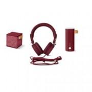 Комплект Fresh & Rebel Ruby Pack 8GIFT01RU, слушалки/външна батерия и безжична колонка, Bluetooth 4.0, 3000 mAh, microUSB, бордо