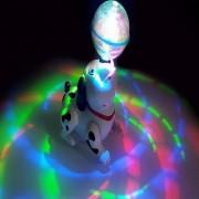 Emob 360 Degree Rotating Musical Dancing Robot Dog with Led Crystal Ball for Kids
