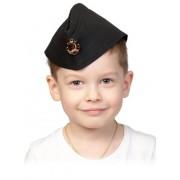Пилотка ВМФ чёрная детская 5249