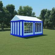 vidaXL Pavilion de grădină, albastru și alb, 3 x 4 m, PVC