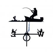 Svens Girouette Pêcheur sur son bateau en fer forgé grand modèle