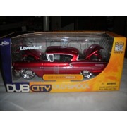 DUB CITY OLD SKOOL METALLIC RED 1958 CHEVROLET CHEVY IMPALA 1:24 DIECAST LOW