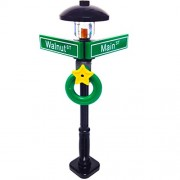 "Lego MinifigurePacks: Holiday City/Town Street Sign and Lamp Post ""Corner of Walnut St. & Main St."""