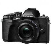 Olympus E-M10 Mark III kamerahus svart + M.Zuiko Digital 14-42/3,5-5,6 EZ + M.Zuiko Digital 45/1,8 Silver