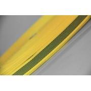 PES-Band gelb beidseitiger Gummiauflage 20 mm 50 mtr. Rolle.