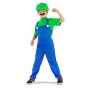 Geen Loodgieter kostuum groen voor jongens