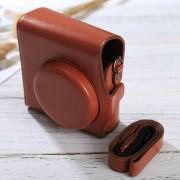 Full Body Camara Caja De Cuero De La PU Bolsa Con Correa Para Fujifilm Instax Mini 90 / 25 / 7 / 8 / 9 (Brown)