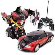 Transformers RC Red Bugatti Robot Remote Control Transforming Autobot