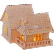 Bouwpakket Villa A Huis Huisje met verlichting