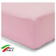 Lenzuolo Angolo con Elastici Baby per Lettino Made in Italy Percalle ROSA